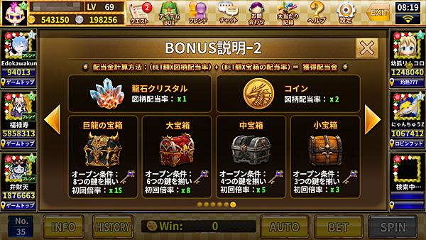 炎龍の財宝 ボーナスゲーム2